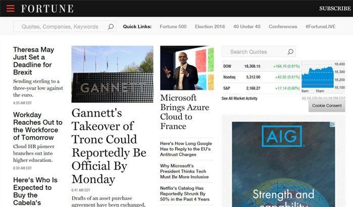siti famosi realizzati con wordpress fortune web agency creorin