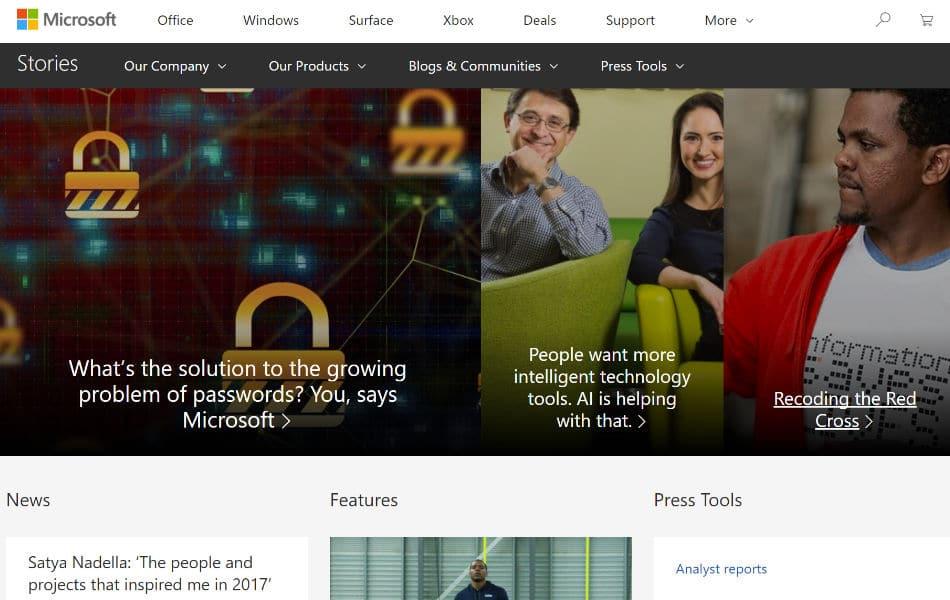 siti-famosi-realizzati-con-wordpress-microsoft-news-web-agency-creorin