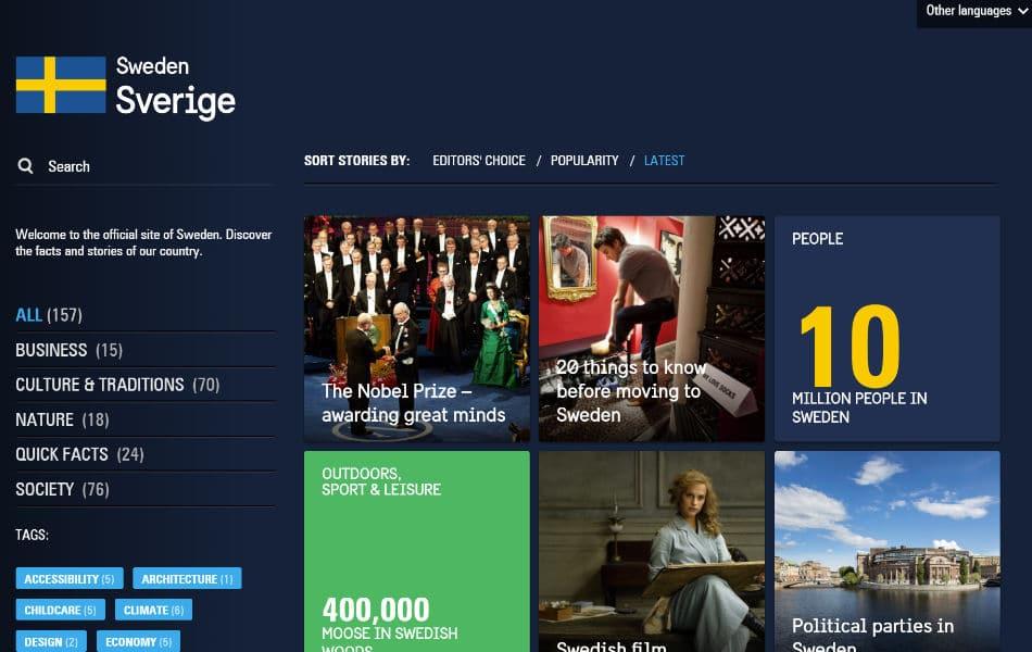 siti famosi realizzati con wordpress svezia web agency creorin