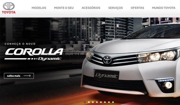 siti famosi realizzati con wordpress toyota brasile web agency creorin